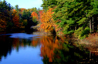 Autumn Comes to Miller's River in Athol, MA